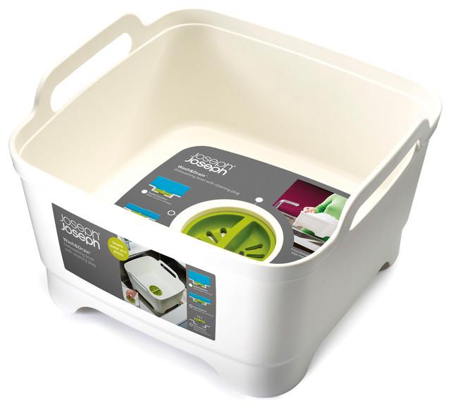 Wash Drain Dishwashing Bowl With Straining Plug - Contemporary ...