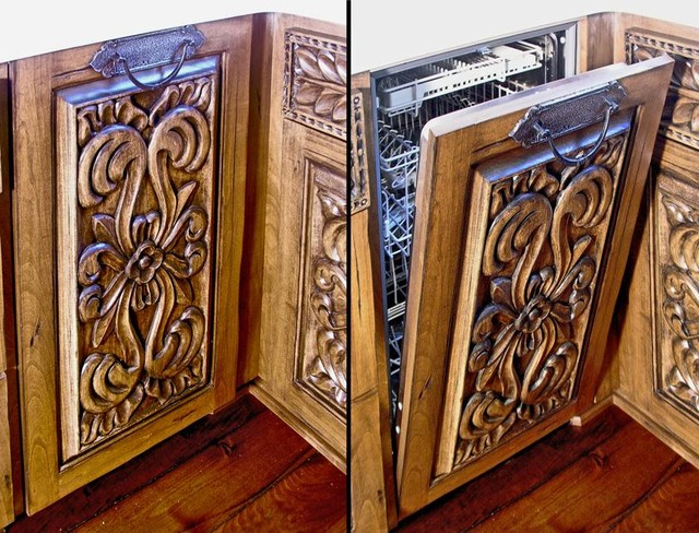 Carved cabinets mf cabinets for Carved kitchen cabinets