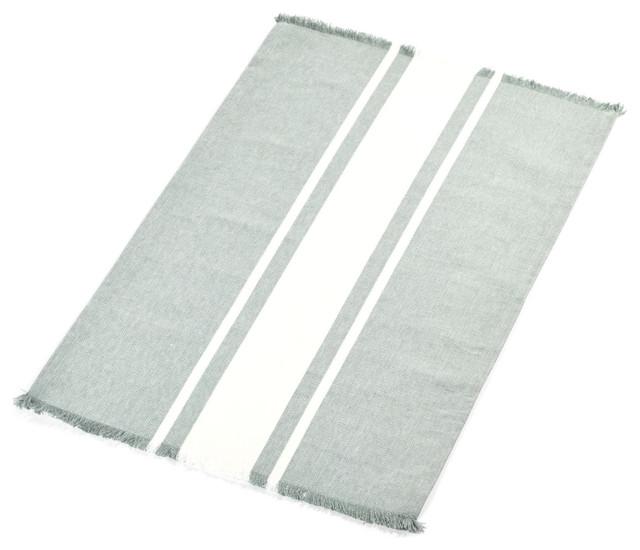 Libeco Ellen Stripe Linen Rug, 94 5
