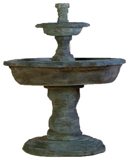 Beautiful Artesia Slate Two Tier Cast Stone Outdoor Garden Fountain   Traditional    Outdoor Fountains And Ponds   By Tuscan Basins Amazing Ideas
