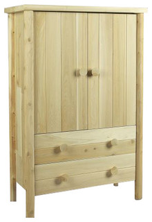Handcrafted Natural Cedar Armoire