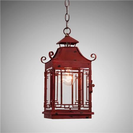 Pagoda Lantern, Red asian-pendant-lighting