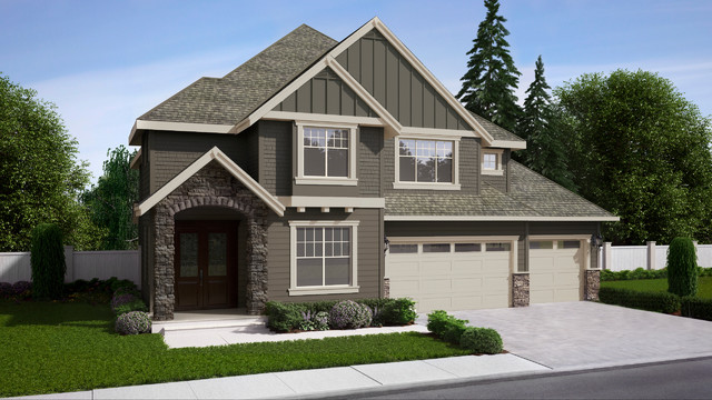 Exterior Rendering Of American Classic Houses