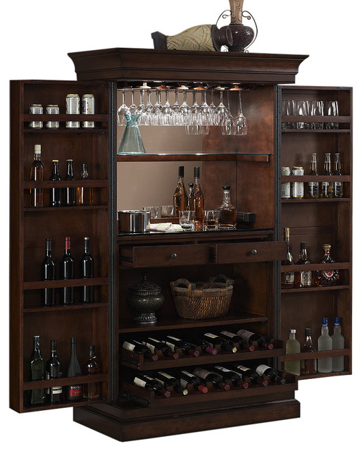 Angelina Serving Cabinet Transitional Wine And Bar
