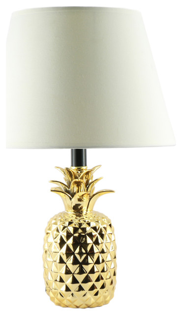 Pineapple Ceramic Table Lamp Tropical Table Lamps