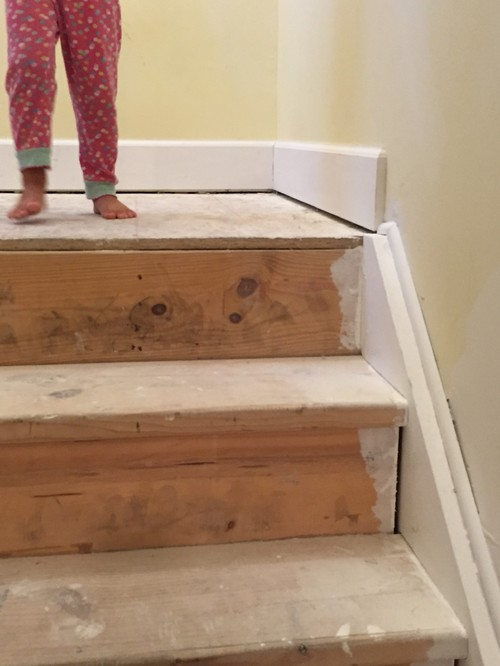 Marvelous Baseboards Transition Down The Stairs