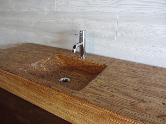 wood bathroom sink recycled wood sink top view in your room houzz 15206