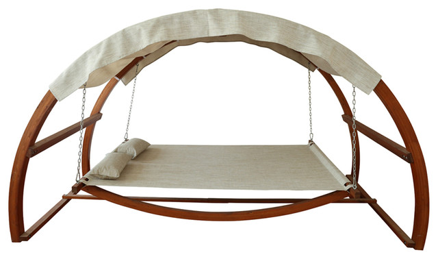 swing bed with canopy - contemporary - hammocks and swing chairs