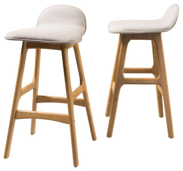 Gdf Studio Tolle Mid Century Design Low Back Fabric Bar Chair Set