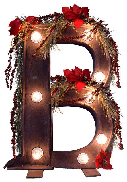 "Illuminated Christmas Letter ""B"""