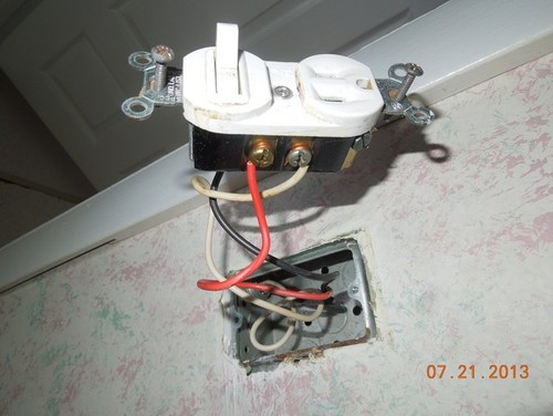 gfci outlet switch combo wiring help picture attached