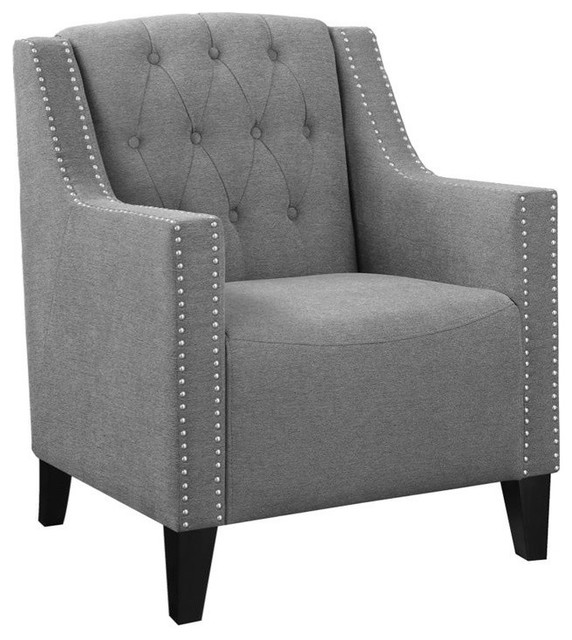 Coaster Accent Chair With Diamond Tufting And Nailhead