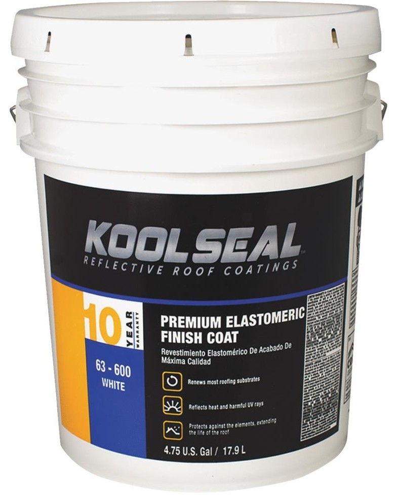 Kool Seal Ks0063600 20 Premium White Elastomeric Roof Coating 4 75 Gallon Contemporary Paint By Hipp Hardware Plus