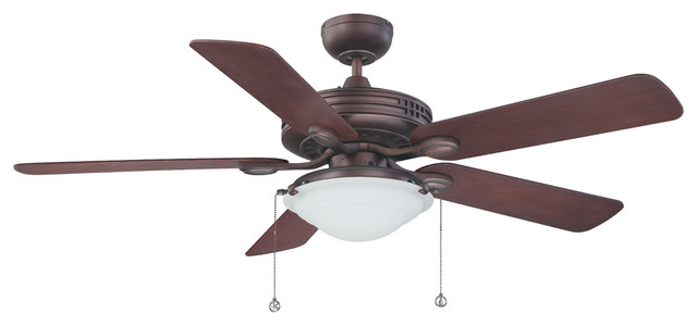 "Builder&x27;s Choice 52"" Oil Brushed Bronze Ceiling Fan, Oil Brushed Bronze"