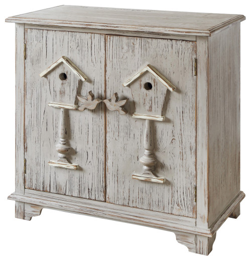 Birdhouse Cabinet in Distressed Grey