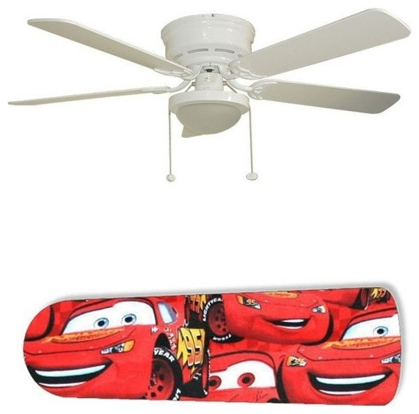 Lightning Mcqueen Cars 52 Ceiling Fan With Lamp.