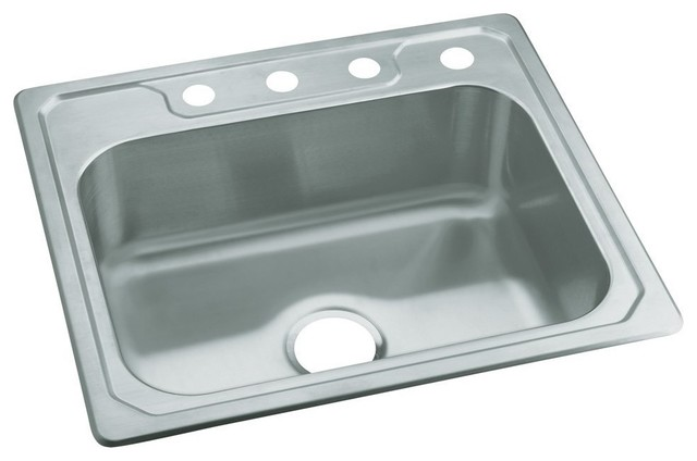 Sterling Stainless Steel Single Bowl Sink, 6\