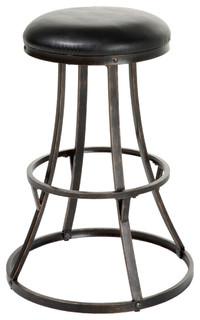 Dover Swivel Bar Stool, Black and Bronze
