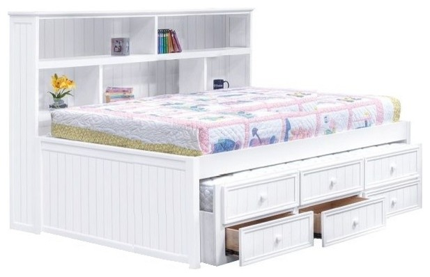 Bookcase Full Size Combo Storage Bed