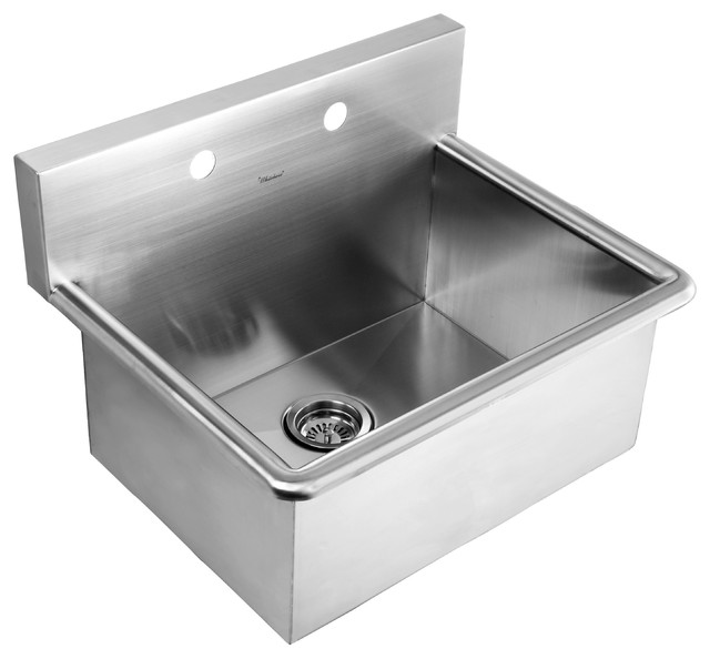 Whitehaus Stainless Steel Commercial Drop In/Wall Mount Utility