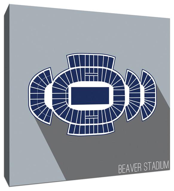Penn State Beaver Stadium College Football Seating Map 9x9 Canvas