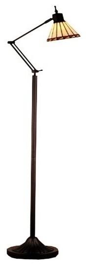 Meyda Tiffany Prairie S Mission Adjustable Tiffany Floor Lamp X-74956.