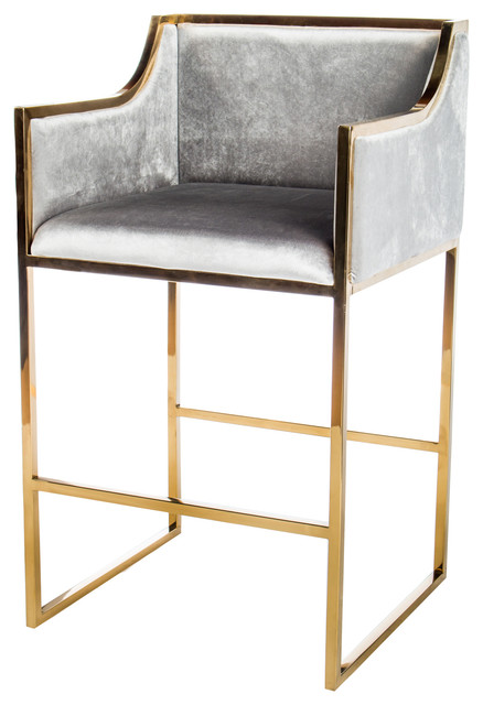 Erin 28 Quot Bar Chair Gold Contemporary Bar Stools And