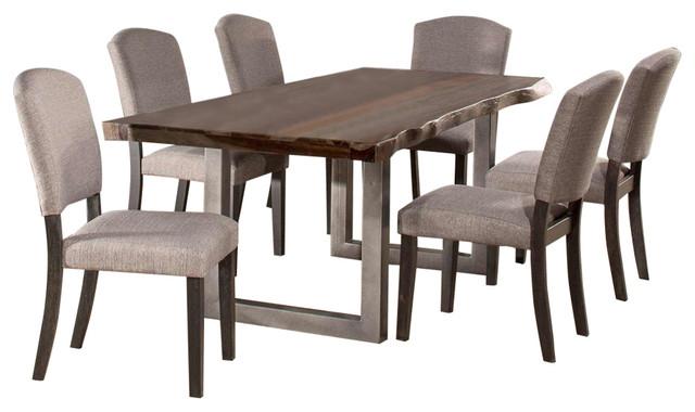5925 Emerson 7-Piece Rectangle Dining Set - Gray Sheesham.