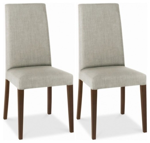 Bentley Designs Miles Walnut Dining Chair Linen Taper  : modern dining chairs from www.houzz.co.uk size 523 x 496 jpeg 32kB