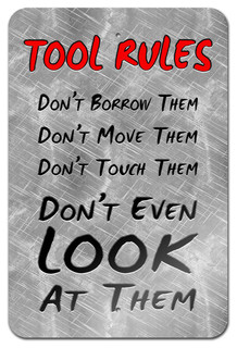 "Tool Rules Metal Sign 18"" x 12"" - Contemporary - Kids Wall ..."