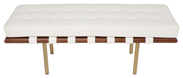 Barcelona 2-Seater Bench, Champagne Gold.