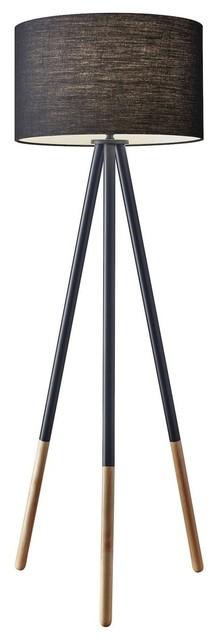 Louise Floor Lamp, Black.
