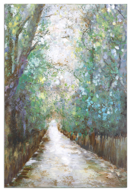 """Uttermost """"Greenway"""" Hand-Painted Art, 40""""x60"""""""