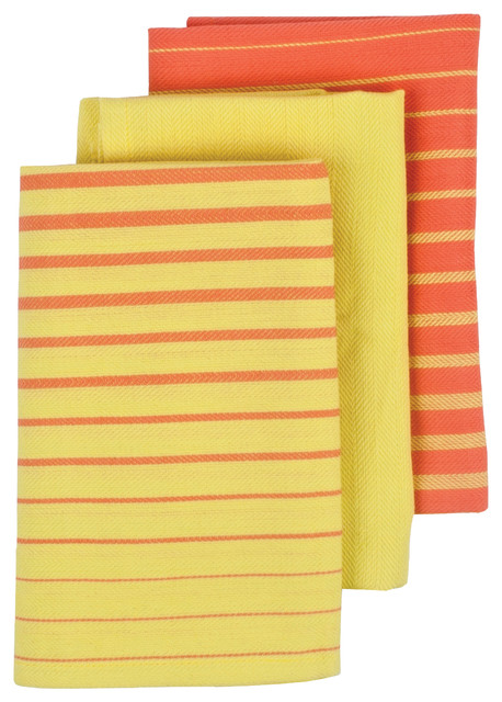 Superbe Gemstone Kitchen Towels, Set Of 3, Yellow