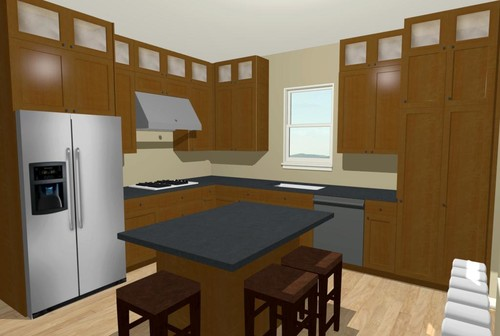 kitchen cabinets for 7 foot ceilings 9 foot ceiling dilemma cabinets stacked to ceiling or 20382