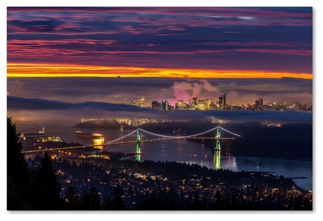 Pierre Leclerc &x27;west Vancouver Sunrise&x27; Canvas Art, 47x30.