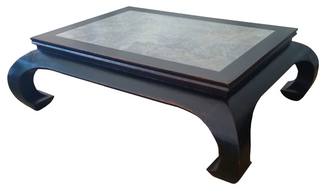 Stone Top Coffee Table Chinese Antique Style