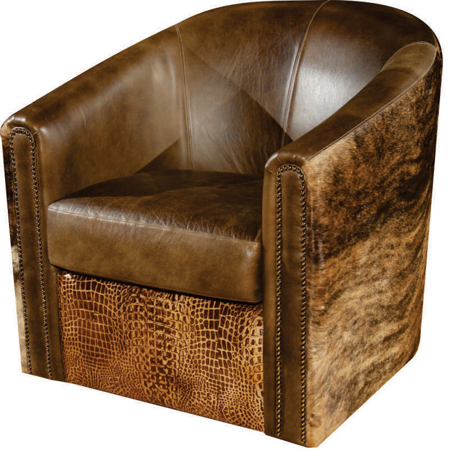 Swivel Tub Accent Chair Transitional Armchairs And