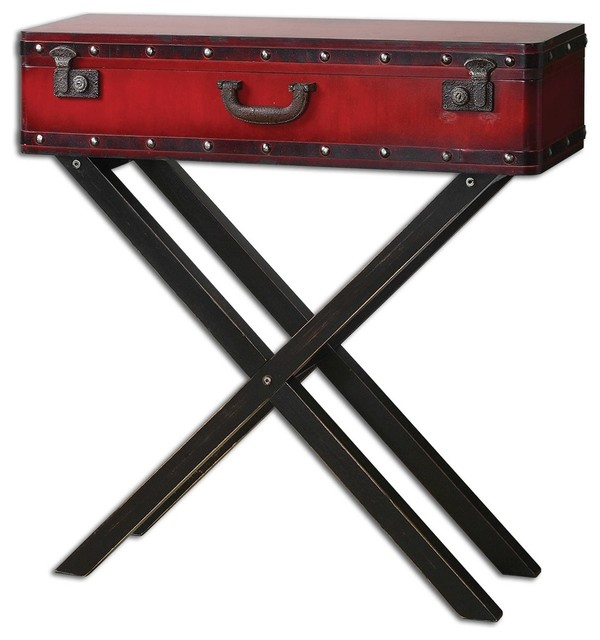 Taggart Red Console Table By Designer Matthew Williams Eclectic Console  Tables