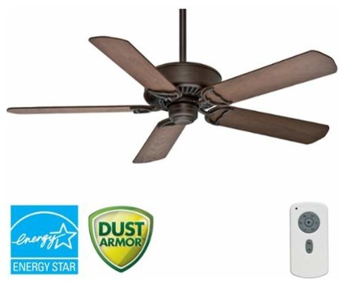 Panama Dc Ceiling Fan With Handheld Remote, 54, Brushed Cocoa.