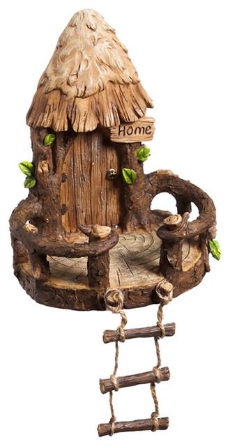 Miniature Tree House miniature fairy garden woodland fairy tree house - rustic