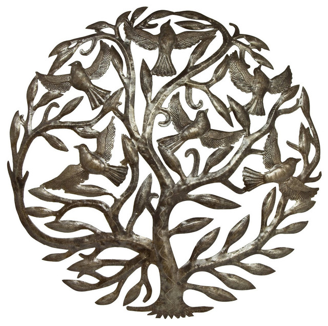 """tree Of Life"" Steel Drum Art, 24""x24."
