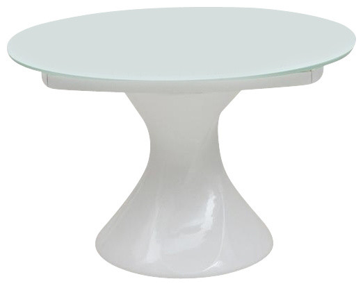 Modern Round White Lacquer Dining Table