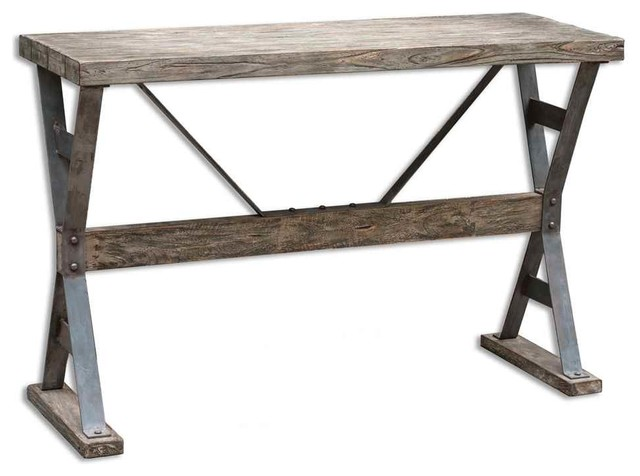 Nice Industrial Console Tables by Furniture East Inc