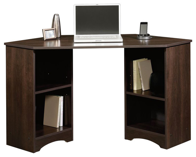 Sauder Beginnings Corner Desk In Cinnamon Cherry Finish