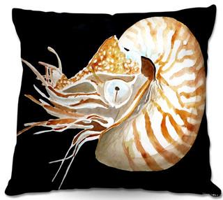 Dianoche outdoor pillows marley ungaro deep sea life for Nautilus garden designs
