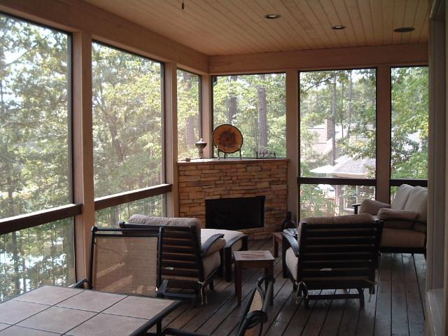 Lake Keowee Fireplace on Screen Porch