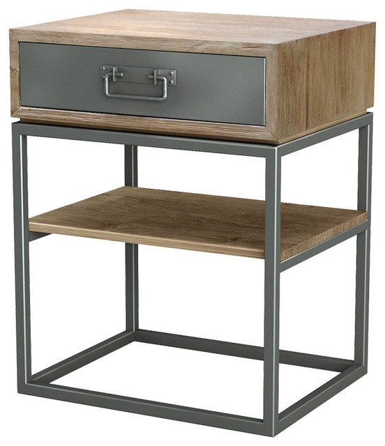 iron nightstand shop houzz asta furniture asta teak and iron stand 907