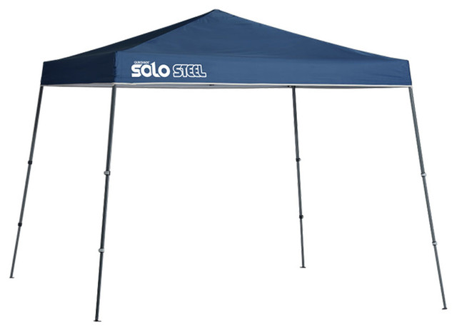Quik Shade Solo 11&x27;x11&x27; Slant Leg Canopy, Midnight Blue Cover, Gray Frame.