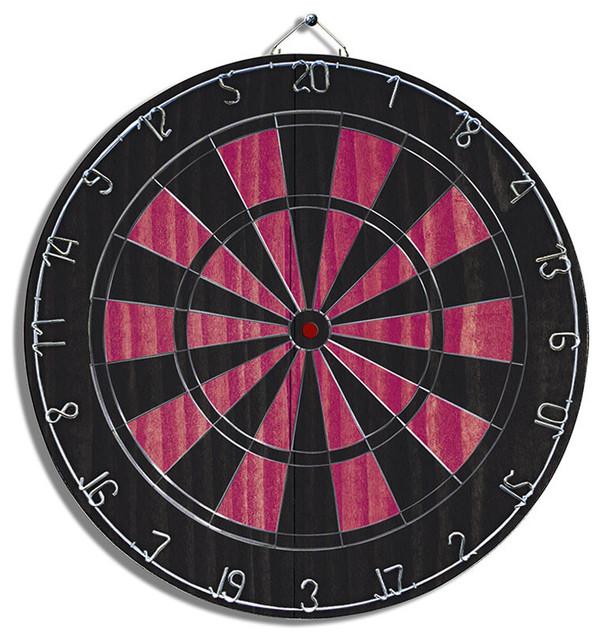 Black Pink Dartboard